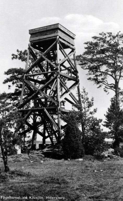 2 Kävsjö gamla fågeltorne 1958